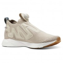 Reebok Pump Supreme Lifestyle Shoes Mens Utl Parchment/Chalk/Mineral Blue/Reebok Lee (768XJZNG)