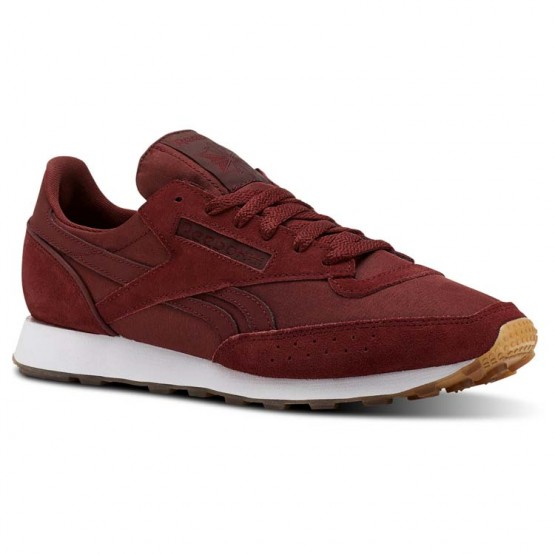 Reebok Classic 83 Shoes For Men Burgundy/White (769BUKTA)