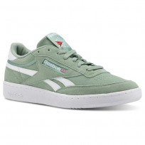 Reebok Revenge Plus Shoes For Men Green/White (773VFOXJ)