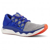 Reebok Floatride Run Running Shoes Mens White/Blue Move/Atomic Red (778KCJFX)