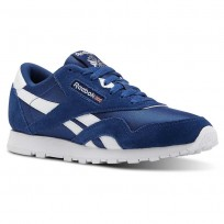 Reebok Classic Nylon Shoes For Kids Blue/White (787QBZUS)