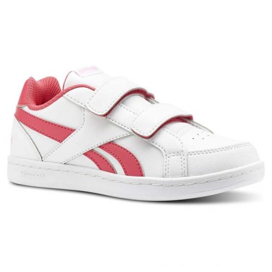 Reebok Royal Prime Shoes Girls White/Twisted Pink/Light Pink (790JMNVI)