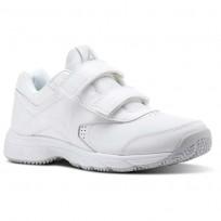Reebok Walk Walking Shoes Womens White/Steel (790SPVLD)