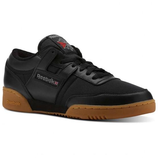 Reebok Workout Shoes Mens Archive-Black/Carbon/Red/Gum (793JUGFM)