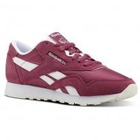 Reebok Classic Nylon Shoes Womens Mutedberries-Twisted Berry/White/Chalk (794QOECR)