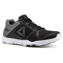 Reebok YourFlex Train 10 Training Shoes Mens Black/Shark/White (796DMESJ)
