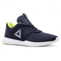 Reebok Reago Training Shoes For Men Navy/Yellow (796QFWZT)