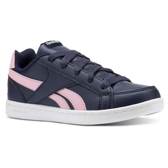 Reebok Royal Prime Shoes For Girls Navy/Light Pink/White (799ESRNJ)