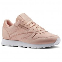 Reebok Classic Leather Shoes Womens Rose Cloud/White (802DMSEA)