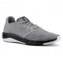 Reebok Print Running Shoes Mens Tin Grey/Foggy Grey/Coal/White (804AGIJZ)