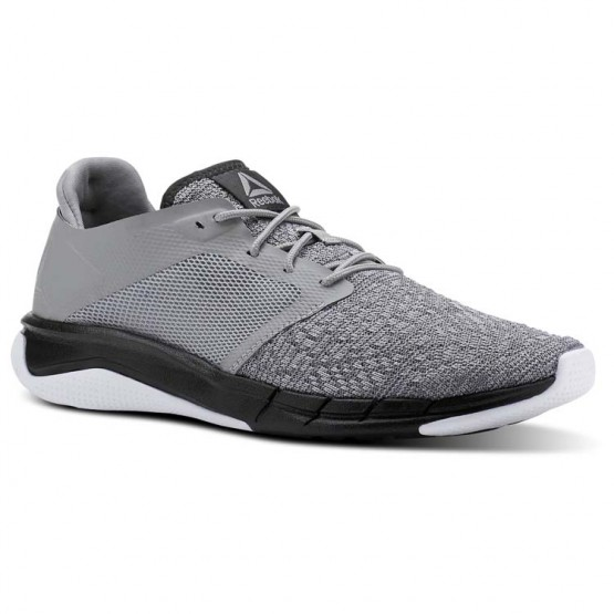 Reebok Print Running Shoes Mens Tin Grey/Foggy Grey/Coal/White (804AGIJZ)