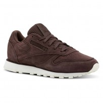 Reebok Classic Leather Shoes Womens Enh-Lush Earth/Chalk (804CXMNV)