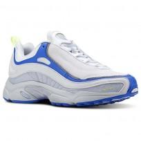 Reebok Daytona DMX Shoes Mens Spirit White/White/Cloud Gry/Vital Blue/Lemon (804JBZDQ)