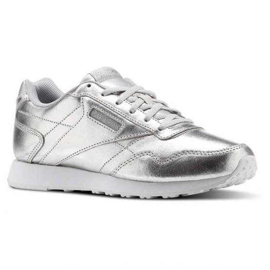 Reebok Royal Schuhe Damen Silber Metal/Weiß (807JGNSD)