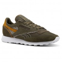 Reebok Classic 83 Shoes Mens Terrain Grey/Army Green/Whit/Soft Camel (809PWOKN)