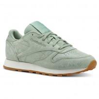 Reebok Classic Leather Shoes For Women Green (815GFLME)