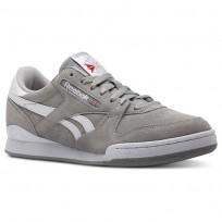 Reebok Phase 1 Pro Shoes For Men Grey/White (816TDRAH)