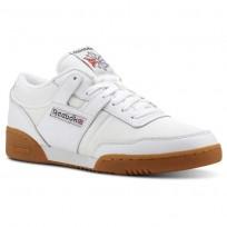 Reebok Workout Shoes Mens Archive-White/Grey/Red/Gum (823BAYIZ)