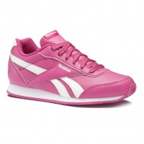 Reebok Royal Classic Jogger Shoes For Girls Pink/White (824OLQEI)