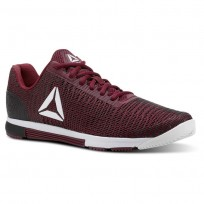 Reebok Speed Training Shoes Mens Rustic Wine/Black/Spirit White/Atomic Red (824OZBWK)