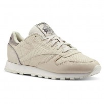 Reebok Classic Leather Shoes For Women Gold (832PZLFD)
