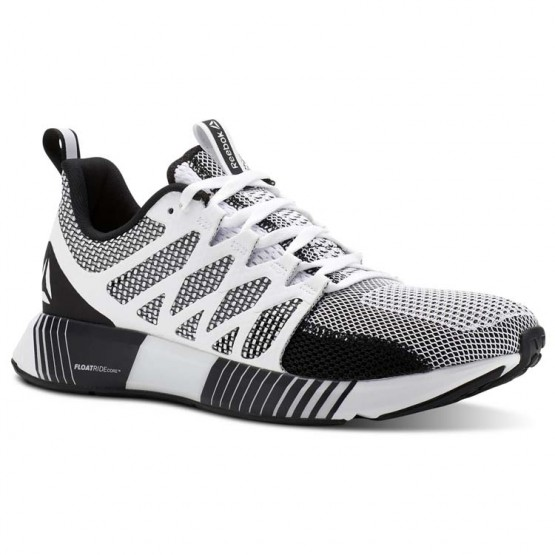 Reebok Fusion Flexweave Cage Running Shoes Mens White/Black/Coal/Skull Grey (833BOHSX)