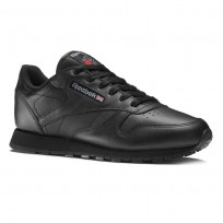Reebok Classic Leather Shoes Kids Black (833WANSV)