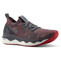 Reebok Floatride RS ULTK Lifestyle Shoes Mens Stark Grey/Ash Grey/Primal Red/White (837OAZDK)