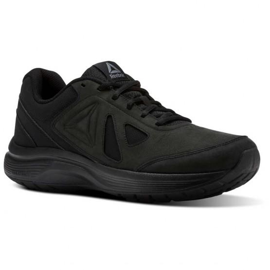 Reebok Walk Ultra 6 DMX MAX RG Walking Shoes Mens Black/Alloy (841GHPJR)
