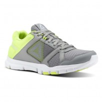 Reebok YourFlex Trainette Training Shoes Womens Tin Grey/Solar Yellow/White (842OPVCB)