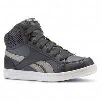 Reebok Royal Prime Shoes For Boys Deep Grey/Dark Grey/White (844AHBQM)