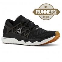 Reebok Floatride Run Running Shoes Mens Black/Gravel/White/Gum (848UDFJG)