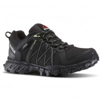Reebok Trailgrip Walking Shoes For Women Black/Green (849CUZDE)