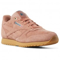 Reebok Classic Leather Shoes For Boys Apricot (855KROIW)