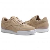Reebok Phase 1 Pro Shoes Womens Clean-Sahara/White (858AFWDE)