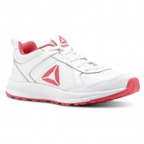 Reebok ALMOTIO 4.0 Running Shoes For Girls White/Pink/Silver (867KERLD)