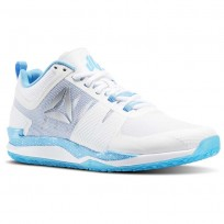 Reebok JJ One Training Shoes Mens White/Black/Blue Beam/Silver (869KZTHJ)