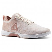 Reebok Speed Training Shoes Womens Pale Pink/Chalk Pink/White/Silver (873HYNTB)