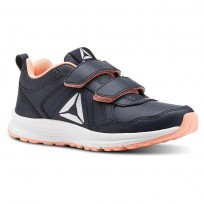Reebok ALMOTIO 4.0 Running Shoes For Girls Navy (876CKXVQ)