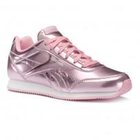 Reebok Royal Classic Jogger Shoes For Girls Metallic/Light Pink/White (881VUWTY)