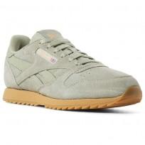 Reebok Classic Leather Shoes Kids Manilla Light/Gum (882POYCH)