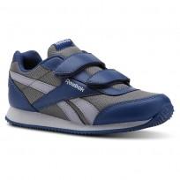 Reebok Royal Classic Jogger Shoes For Kids Blue/Grey (888HWLIP)