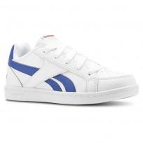 Reebok Royal Prime Shoes Kids White/Collegiate Royal/Primal Red (888YAUZL)