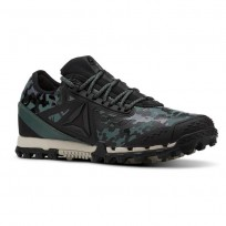 Reebok AT SUPER 3.0 Running Shoes Womens Camo-Black/Alloy/Chalk Green/Parchment (890IKMTS)
