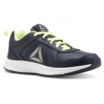 Reebok ALMOTIO 4.0 Running Shoes Boys Collegiate Navy/Electric Flash/Pewter (894ZGBQH)