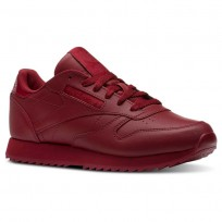 Reebok Classic Leather Shoes Womens Cranberry Red (905ASKMQ)