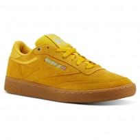 Reebok Club C 85 Shoes Mens Mc-Banana/Blue/Gum (907KJRUQ)