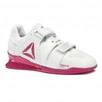 Reebok Legacy Lifter Shoes For Women White/Rose/Silver (912ORJSY)