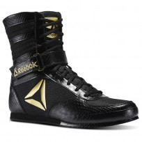 Reebok Boxing Tactical Shoes Mens Black/Gold (914INSDA)