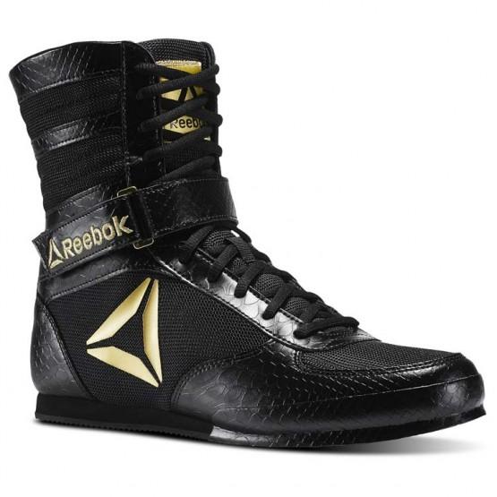 Reebok Boxing Tactical Shoes Mens Black/Gold (914INSDA)